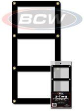 50 BCW Triple Baseball Trading Card Black Border Screwdown Holders display frame