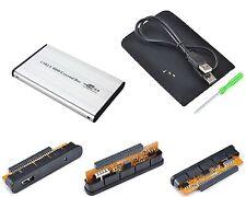 "Case per disco rigido IDE 2.5"" DD USB USB2 Plug&Play Alu Leggero Portatile"