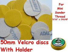 """50mm 50pcs Velcro 2"""" Sanding Discs With Holder Made By NORTON UK"""