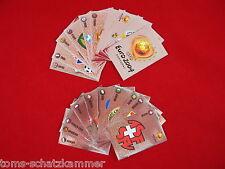Panini Euro 2004 alle 16 Wappen + Nr. 1 - 4 = 20 Glitzer Sticker komplett EM 04