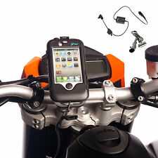 Motocicletta M8 Mount + Custodia Resistente Per iPhone 4S 4 S + DIN BMW Stile Cavo Caricabatteria