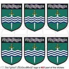 PETERBOROUGH Shield Ontario Canada Mobile Cell Phone Mini Stickers, Decals x6