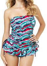 ffa0372288c13 Panache Cleo Cw0011 Swimwear Tilly Bandeau Tankini Dress Bird Print 34 F