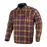Mens Biker Motorcycle Cotton Shirt Lumberjack Made with Kevlar CE Armour