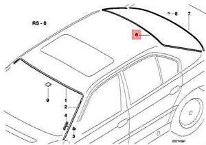Genuine BMW E38 725tds 728i 728iL 730d 730i Covering Upper Black 51318162827