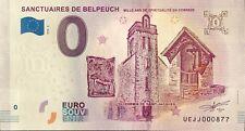 BILLET 0 ZERO EURO SOUVENIR TOURISTIQUE SANCTUAIRES DE BELPEUCH 2018-4