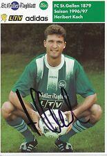 Heribert Koch   FC St.Gallen  Autogrammkarte signiert 297340