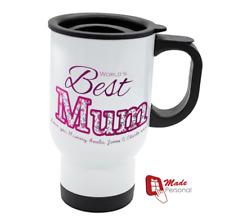 PERSONALISED Travel Thermal Mug 14oz - Mum Mothers Day Gift- Best Mum Design
