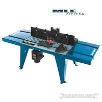 460793 Silverline DIY Bench mounted Router Table with Protractor woodworking