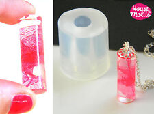 Clear silicone resin mold cylinder tube jewelry crafts earrings pendant