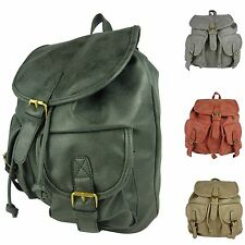 Rucksack Leder Optik Herrenrucksack Damenrucksack Reiserucksack backpack 2001