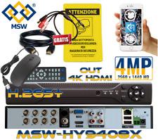 HY9408X DVR 8 Canali 4MP 4 Megapixel - 5MP in IP - in NVR Diventa un 16 Canali