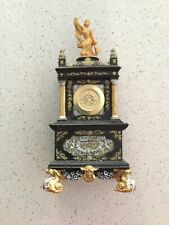 Gold/brown Royal Ornate Miniature Clock Casing With Quartz Clock 30Mm  Insert .