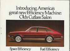 1979 Oldsmobile CUTLASS SALON advertisement, Olds Cutlass Salon ad, fastback