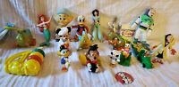 Vintage Disney Lot 19 Toys Collectibles Mickey Mouse Donald Duck Minnie figures