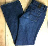 X2 Denim Laboratory Women's Size 4 Whisker Faded Stretch Denim Flare Leg Jeans
