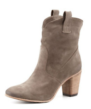 $475 ALBERTO FERMANI Chiara Slouch Ankle BOOTS Brown Suede Booties YOOX 37 7 7.5
