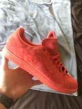 NIB ADIDAS Mens 13 STAN SMITH S75109 RED SUEDE LIFESTYLE CASUAL SHOES  90 19d858e5f
