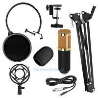 Pro BM800 Condenser Microphone Kit Studio Recording Mount Boom Stand Sound Card