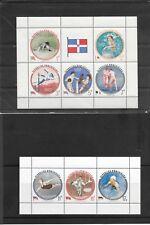 REPUBBLICA DOMINICANA 1956 OLIMPIADI DI MELBOURNE FOGLIETTI DENTELLATI E NON