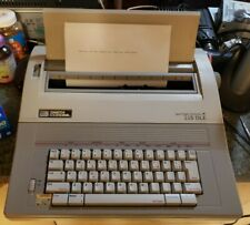 Smith Corona Vintage 350 DLE Port. Electric Typewriter Working w/Cover & Manual