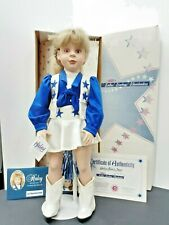 "NFL Jr Dallas Cowboys Cheerleader 18"" Porcelain Doll Haley Alexis Jones 1996"