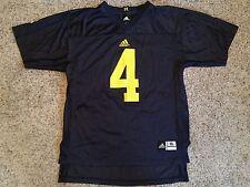 Michigan Wolverines Adidas Football Jersey Sz Youth XL #4 Jim Harbaugh Blue