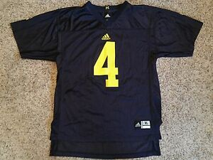 Michigan Wolverines Adidas Football Jersey Sz Youth XL #4 Jim Harbaugh Blue