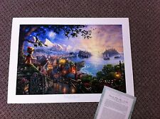 "Thomas Kinkade ""Pinocchio Wishes Upon a Star""Signed & Numbered Disney Lithograph"