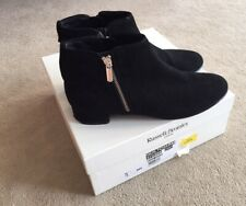 Russell and Bromley size 6 / EU 39 Black suede ankle boots Quiltcharm RRP £245