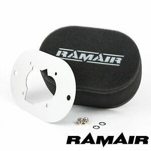 RAMAIR Carb Luftfilter mit Grundplatte Weber 32/34 Datr 65mm Bolzen Auf