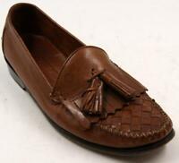 Cole HaanResort Brown Woven Leather Kiltie Tassel Loafers Men's Shoes Sz 9 D