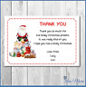 10 PERSONALISED CHRISTMAS XMAS THANK YOU FOR MY SANTA GIFTS CARD  AND ENVELOPES