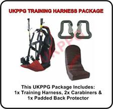 Ground Training Paraglider Paramotor Tandem Harness & Back Pack & 2x Carabiners