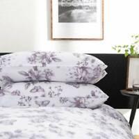 Stunning Floral Design Jardin Butterfly Duvet Cover Set in Heather Superking