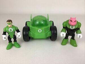 Imaginext DC Super Friends Green Lantern Rover Vehicle 3pc Kilowog 2008 Mattel
