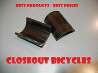 "Black Handlebar Shims 22.2 to 25.4mm Alloy Bicycle Bike (7/8 to 1"") Shim"