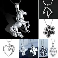 Animal Silver Tone Horse Heart Dog Footprint DIY Necklace Pendant Jewellery New