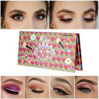 18 Farben Shimmer Matte Lidschatten-Palette Puder Lidschatten Makeup Set Ki M9A1