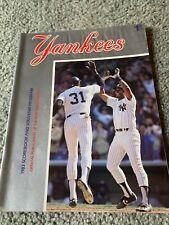 1983 New York Yankees v Baltimore Orioles Baseball Program 9/10 Game 2