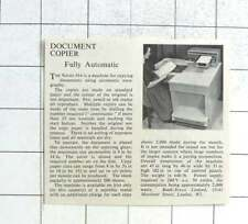 1960 The Rank Xerox 914 Fully Automatic Document Copier