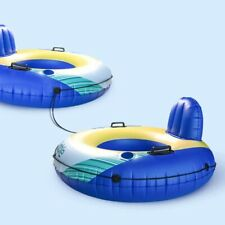Two Pcs Inflatable Water Float Floating Tube Pool Lounger for Pool Lake River