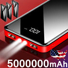 5000000mAh Power Bank 2 USB Portable External Backup Battery Pack Fast Charger