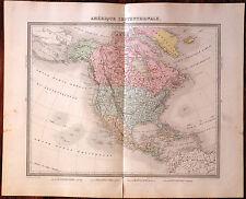 Carte AMERIQUE DU NORD -1874. 43 x 53 cm., Amérique Septentrionale