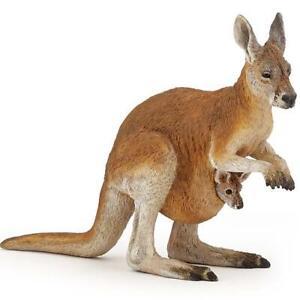 Papo Kangaroo with Joey Figure Wildlife Toy Replica 50188 NEW
