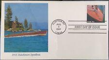 1915 Hutchinson Speedboat Stamp FDC 2007
