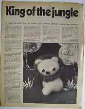 Vintage 1960s toy pattern for lion King of the Jungle by Valerie Janitch