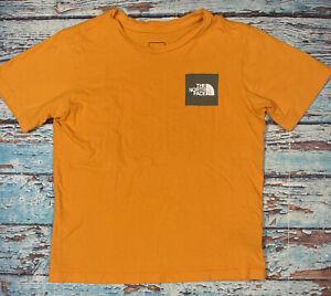 boys THE NORTH FACE shirt YMD medium (10-12) orange short sleeve