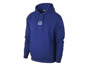 Nike NSW Po Air SSNL Mens Kapuzenpullover Hoodie Herren Blau Pullover Pulli