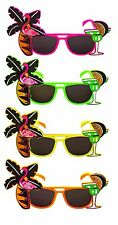 Tropical Party Novelty Sunglasses - Single - Assorted Colours- Flamingo Glasses